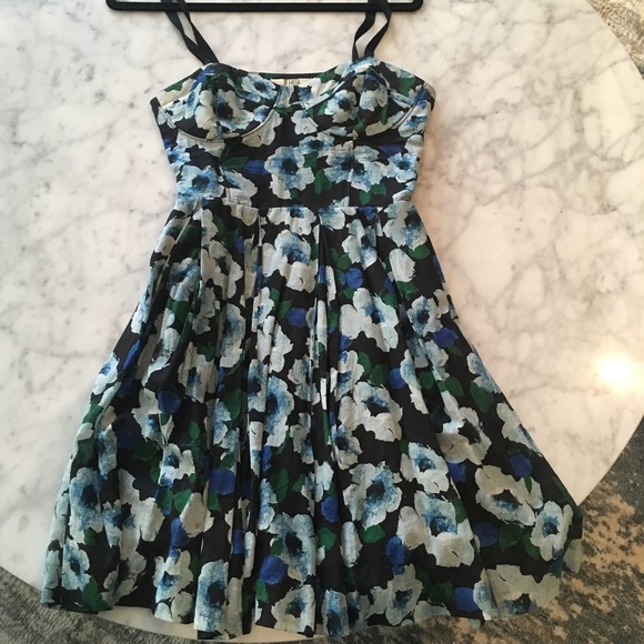 BB Dakota Dresses & Skirts - Blue Floral Short Dress